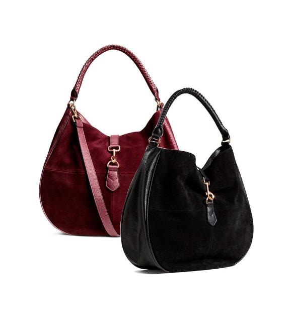 Женская замшевая сумка-хобо H&M