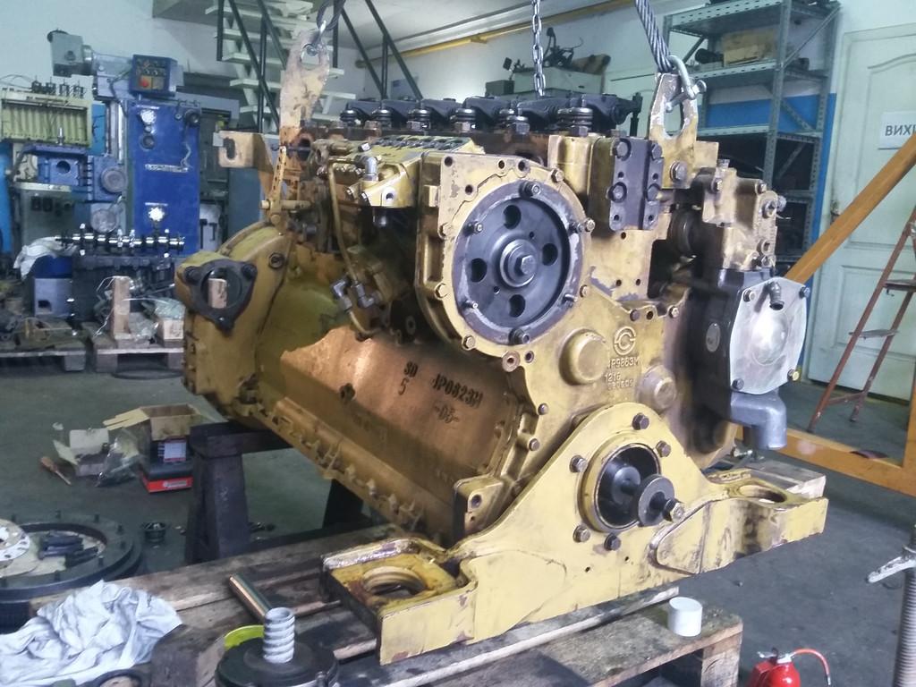 Ремонт дизельного двигателя C6121 погрузчика Cheng Gong 956E