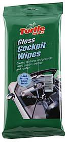 Салфетки для пластика глянец Turtle Wax Gloss Cockpit Wipes