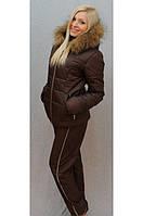 Женский зимний костюм с брюками