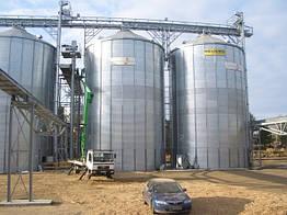 Силосы металлические для хранения зерна, произведено в Германии