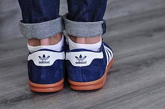 Adidas Hamburg, синие, замша, фото 3