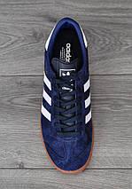 Adidas Hamburg, синие, замша, фото 2