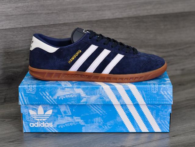 Adidas Hamburg синего цвета