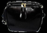 Сумка женская черная кожаная на молнии FFN-017180, фото 1