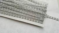 Полубусины Квадрат Серебро на нитке 8 мм 1 м