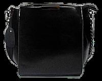 Сумка женская кожаная черная на плечо