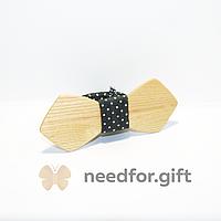 Галстук бабочка из дерева «Пирраркти ретро»
