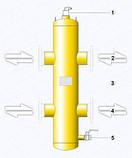 Фланцевая гидравлическая стрелка HSF 70-160-210-350 - 7650 кВт, фото 3