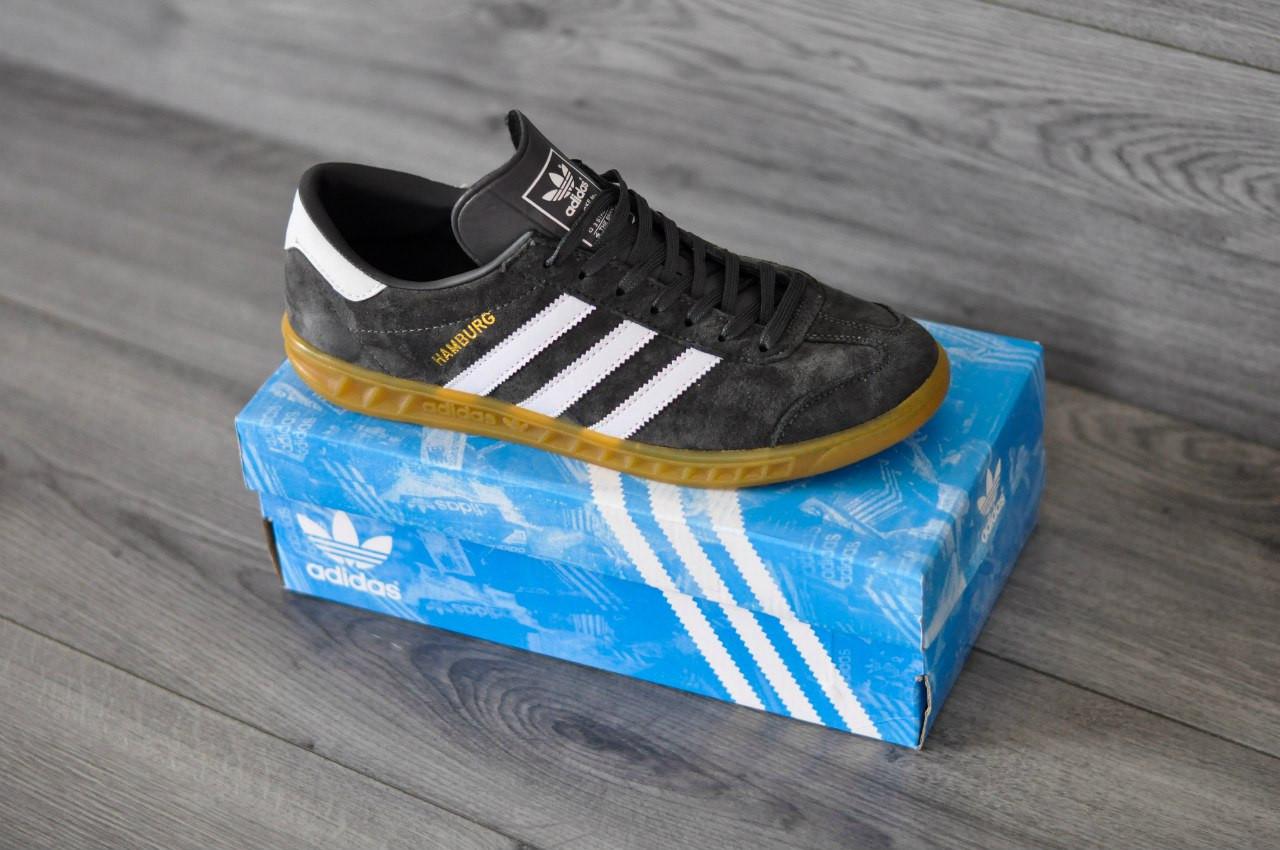 Кроссовки Adidas Hamburg,серые, стильные, городские