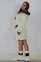 Халат женский махровый с сапожками