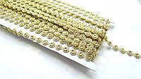 Полубусины Цветок золотой на нитке 10 мм 1 м