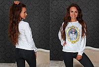 """Стильный женский батник 285 """"Эластан Портрет"""" в расцветках"""
