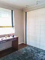 Римские шторы в комнату для мальчика в сине-белых тонах. Ткань для штор VICENTA