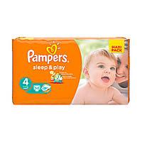 """Подгузники""""Pampers Sleep & Play"""" с тянущимися боковинками 4 (7-14 кг)-50 шт."""
