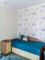 Покрывало и подушки для детской кровати в морском стиле. Ткань для подушек и покрывала VICENTA