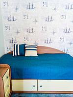 """Декоративные подушки и покрывало в детскую комнату. Ткань для подушек и покрывала """"рогожка"""" VICENTA"""