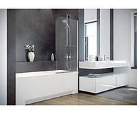 Шторка для ванны Ambition 1 75x130 Besco PMD Piramida (стекло прозрачное, Польша)