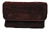 Сумка-клатч женская фиолетовая замш на плечо
