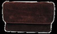 Сумка-клатч женская фиолетовая замш на плечо, фото 1