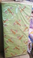 Матрас САЛАТОВЫЙ для детской кроватки КПК-LUX кокос-поролон-кокос, 120х60 см. Толщина 7 см.