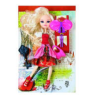 Кукла Ever After High, блондинка в красном платье