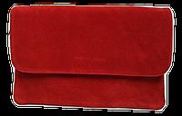 Сумка-клатч женская красная замша на плечо