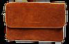 Сумка-клатч женская коричневая замш на плечо
