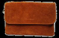 Сумка-клатч женская коричневая замш на плечо, фото 1