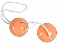Вагинальные шарики «Duo Balls Soft» телесные