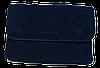 Сумка-клатч женская синяя замша на плечо