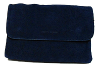 Сумка-клатч женская синяя замша на плечо, фото 1