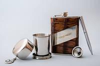 Подарочный набор AL805 с Праздником Набор Фляга+ручка+лейка+брелок Подарочный набор для мужчины Подарок