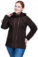 Оригинальная женская куртка шоколадного цвета