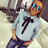 Рубашка CHLOE женская с поясом-бантом