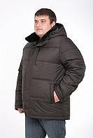 Зимняя мужская куртка батал (коричневого цвета)