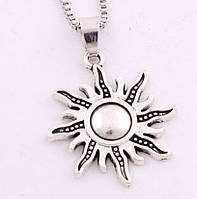 Кулон K-127 - Солнце (серебро) , фото 1