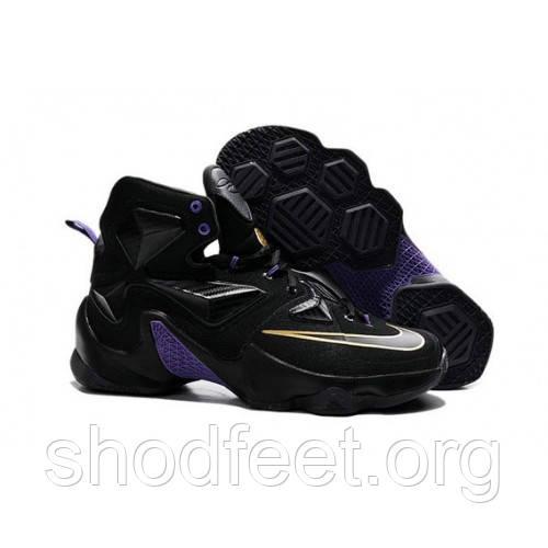 Мужские кроссовки Nike Lebron 13 Elite black\purple-gold