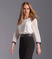 Женская блуза белого цвета, длинный рукав. Модель Z06 Sunwear. Коллекция осень-зима 2016.