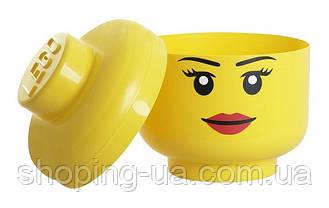 Ящик для хранения Lego Голова Девочка S PlastTeam 40311222, фото 2
