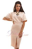 Нарядное платье Лучиана бежевое