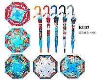 Зонт C K002  5 видов, со свистком, в пакете 49 см