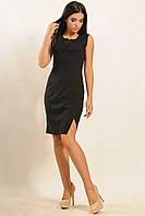 Элегантное платье с завышенной линией талии | черный (р.42-52)