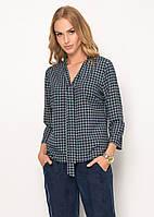 Женская офисная блуза с абстрактным принтом, длинный рукав. Модель Z31 Sunwear. Коллекция осень-зима 2016.