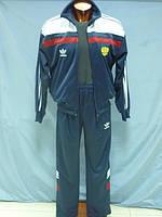 Костюм спортивный  мужской эластик темно-синий, фото 1