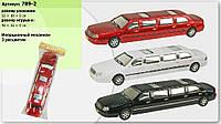 Машина-лимузин инерц 789-2  3 цвета, в пакете 50-19-9см