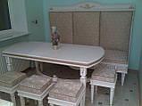 Белая кухня из массива дерева под заказ, фото 4