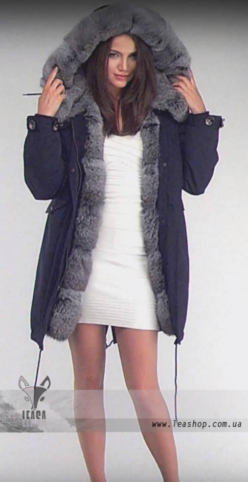 Куртка парка женская зимняя с мехом кролика