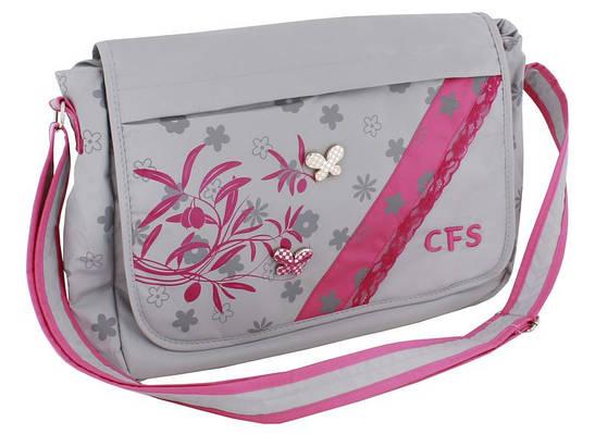 """Школьный мессенджер для леди """"Lightness"""" Cool for school CF85400 серый/розовый"""