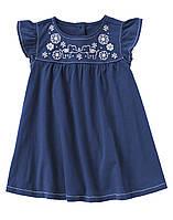 Детское трикотажное платье  6-12 месяцев